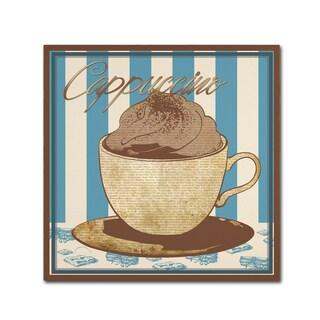 Masters Fine Art 'Cappuccino Blue' Canvas Art