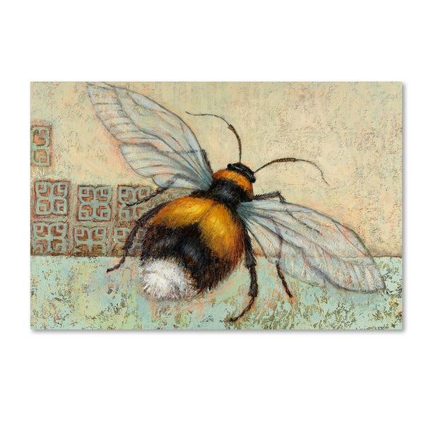 Rachel Paxton 'Bumble Bee' Canvas Art - Blue/Orange
