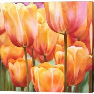 Luca Villa 'Spring Tulips II' Canvas Art