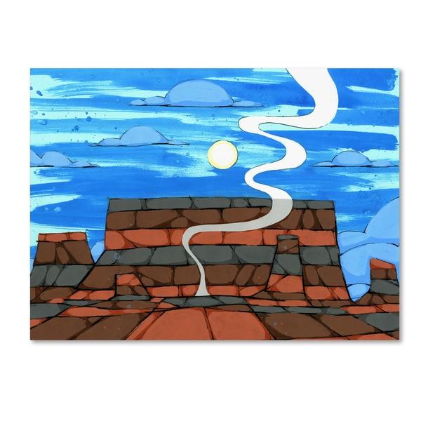 Ric Stultz 'Smoke On The Horizon' Canvas Art