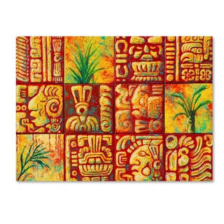 Marion Rose 'Mayan Tiles' Canvas Art