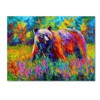 Marion Rose 'Grizz On Guard' Canvas Art