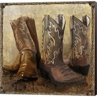 Art Licensing Studio 'Roped in Boots' Canvas Art