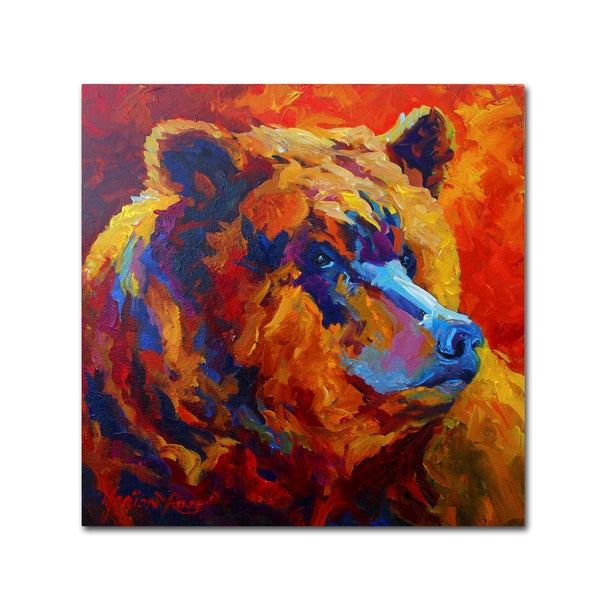 Marion Rose 'Grizz Portrait II' Canvas Art