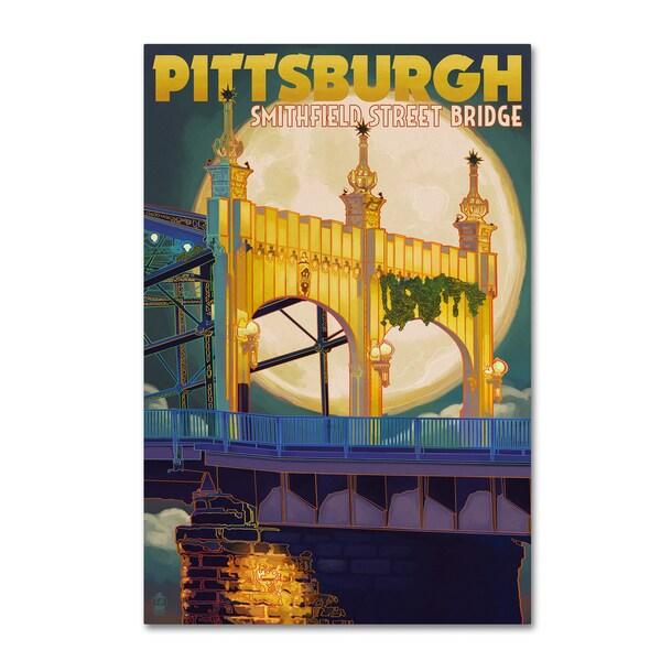 Lantern Press 'Pittsburgh' Canvas Art