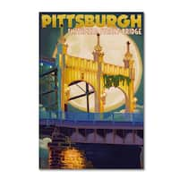 Lantern Press 'Pittsburgh' Canvas Art