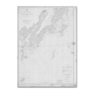 Lantern Press 'Map 10' Canvas Art