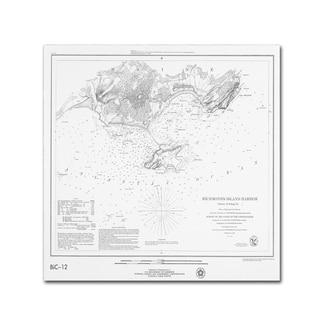 Lantern Press 'Map 8' Canvas Art