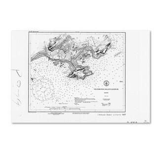 Lantern Press 'Map 6' Canvas Art
