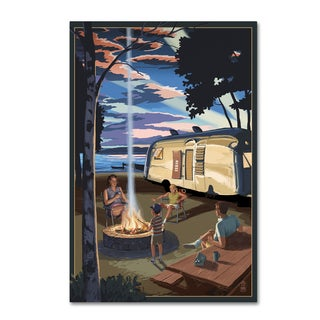 Lantern Press 'Fire' Canvas Art