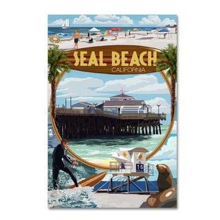 Lantern Press 'Beach 2' Canvas Art