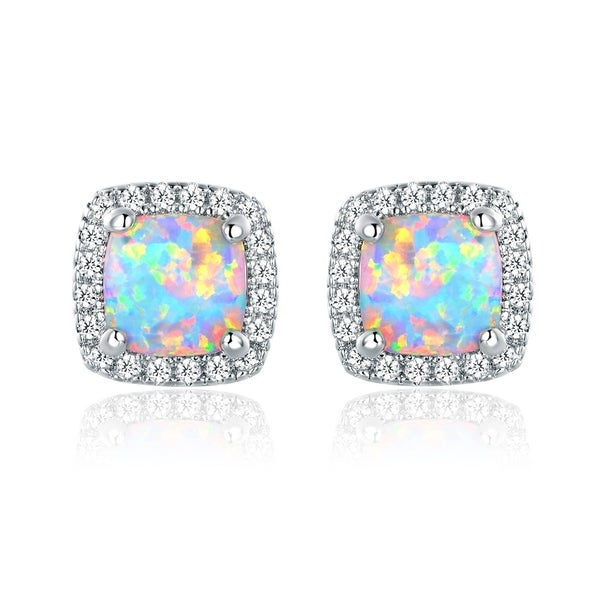 yellow stud sevil shop zirconia hot earrings gold opal rose summer bargains pink fire white and on cubic plated red
