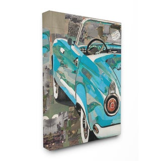 Classic Car Color and Texture Stretched Canvas Wall Art