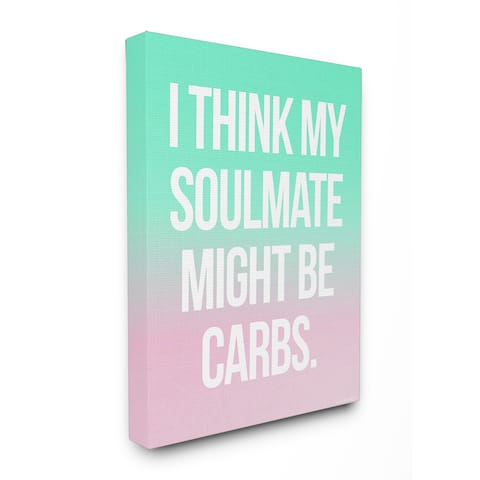 lulusimonSTUDIO Carb Soulmate Typography Canvas Wall Art