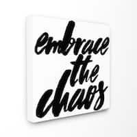 lulusimonSTUDIO Embrace the Chaos Stretched Canvas Wall Art