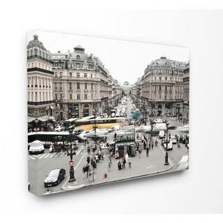 Vintage Paris Textured Photograph Stretched Canvas Wall Art