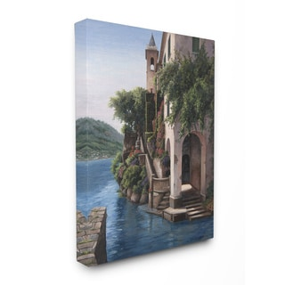 Manor on the Water Stretched Canvas Wall Art