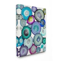 Watercolor Geodes Stretched Canvas Wall Art