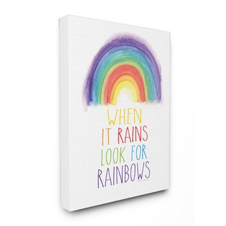 Look for Rainbows Stretched Canvas Wall Art