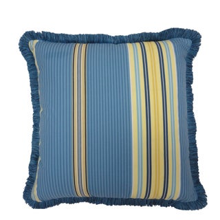 """Waverly Imperial Dress 18"""" Decorative throw Pillow with Fringe"""