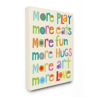 More More More Play Stretched Canvas Wall Art