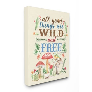Good Things Wild and Free Stretched Canvas Wall Art
