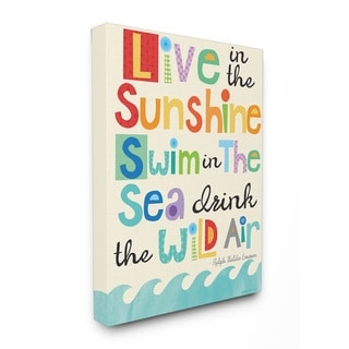 Live In The Sunshine Emerson Quote Stretched Canvas Wall Art