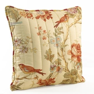 "Waverly Charleston Chirp Quilted 20"" throw pillow"