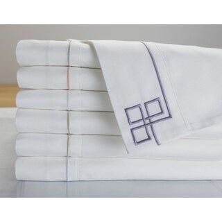 Sleep Like a King 500 TC Cotton Fretwork Pillowcase Pair Designed by Larry and Shawn King (Set of 2)