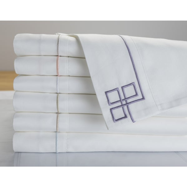 Shop Sleep Like A King 500 TC Cotton Fretwork Pillowcase
