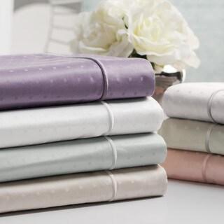 Sleep Like A King by Larry and Shawn 700 TC Cotton Jacquard Swiss Dot Pillowcase Set
