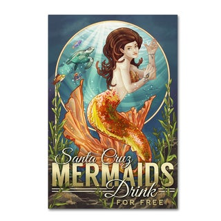 Lantern Press 'Mermaid' Canvas Art