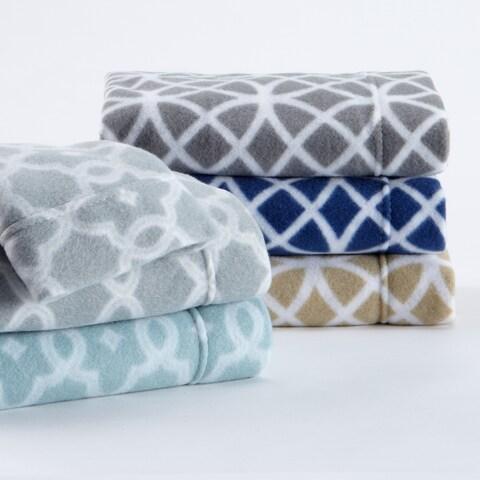 Home Fashion Designs Dara Collection Extra-plush Arbour Printed Polar Fleece Sheet Set