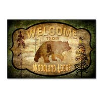 LightBoxJournal 'Welcome - Lodge Black Bear 1' Canvas Art