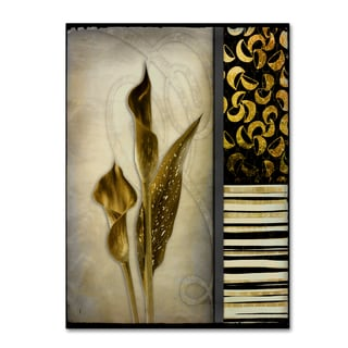 LightBoxJournal 'Gold Lily 1' Canvas Art