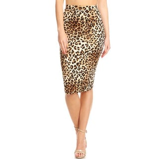 Women's Cheetah Pattern Pencil Skirt