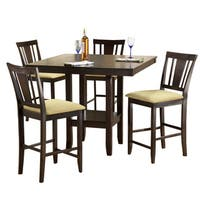 Hillsdale Furniture Arcadia Espresso Wood Counter Height Dining Set (5-piece Set)