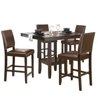 Hillsdale Furniture Arcadia Espresso Wood 5-piece Counter-height Dining Set with Parson Stool