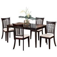 Hillsdale Furniture Bayberry Dark Cherry 5-piece Dining Set with Rectangular Table
