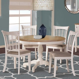 Hillsdale Furntiure Bayberry/Embassy 5 Piece Round Dining Set in White Finish
