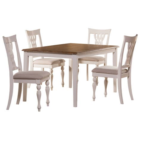 Hillsdale Furniture White Rectangle Dining Set (5 Piece)