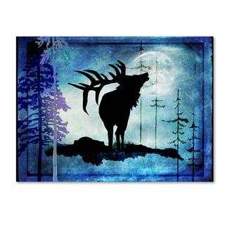 LightBoxJournal 'Midnight Elk' Canvas Art