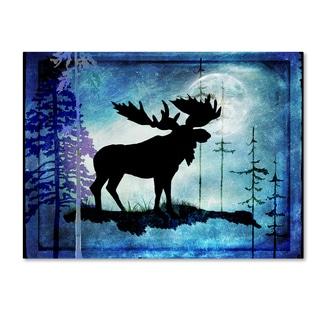 LightBoxJournal 'Midnight Moose' Canvas Art