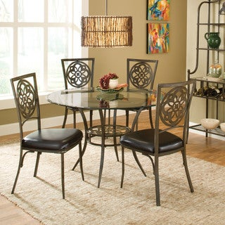 Hillsdale Furniture Marsala Grey/Brown Glass Top 5-piece Dining Set