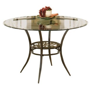 Hillsdale Furniture Marsala Dining Table in Grey with Brown Rub Finish