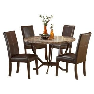 Hillsdale Furniture Monaco Matte Espresso Wood/Faux-leather 5-piece Dining Set