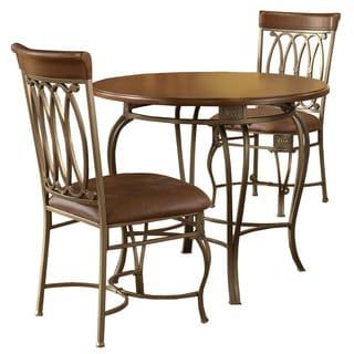 Hillsdale Furniture Montello Old Steel 3-piece Dining Set