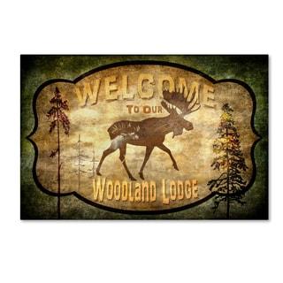 LightBoxJournal 'Welcome Lodge Moose' Canvas Art