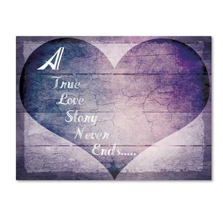 LightBoxJournal 'A True Love Story Never Ends' Canvas Art