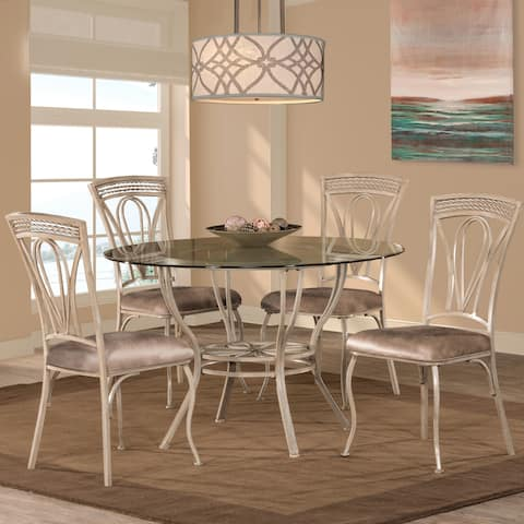 Hillsdale Furniture Napier Aged Ivory 5-piece Round Dining Table Set